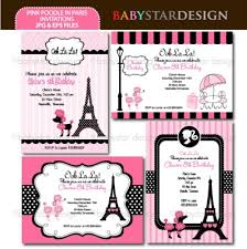 eiffel tower invitations eiffel tower invitations template best template collection