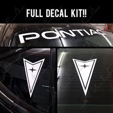 bumper stickers graphics decals for pontiac ebay