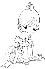 free cartoon precious moments coloring books kids printable