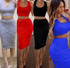 2016 designer one piece party dress women fashion crop top 2