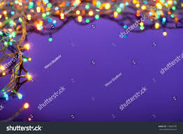 christmas lights on dark blue background stock photo 116899708