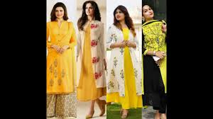latest yellow dress design for girls youtube
