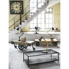 Table Basse Verre Roulette Industrielle by Table Basse Roulette Maison Du Monde U2013 Phaichi Com