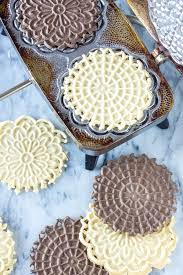 vanilla and chocolate pizzelles recipe runner
