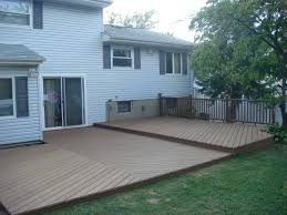 home design backyard deck ideas ground level sloped ceiling baby