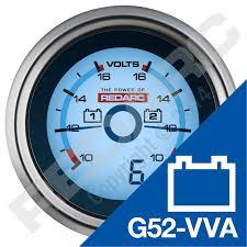 resetting battery gauge dual voltage 52mm gauge products redarc electronics