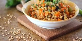 cuisiner le petit eautre petit épeautre à la brunoise de légumes en cocotte recette sur