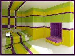 furniture design purple and lime green bedroom