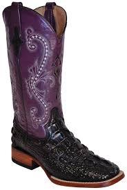 womens boots purple ferrini s hornback caiman print cowboy boots black purple