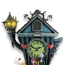 Jack Skellington Home Decor The Nightmare Before Christmas Cuckoo Clock Hammacher Schlemmer
