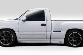 2000 Chevy Silverado Truck Bed - 99 06 chevrolet silverado bt 1 duraflex side skirts body kit