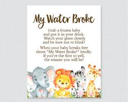 my water baby shower my water etsy
