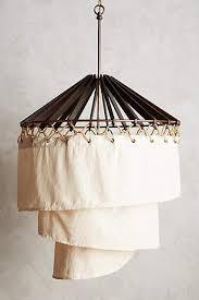 Linen Pendant Light White Linen Pendant L