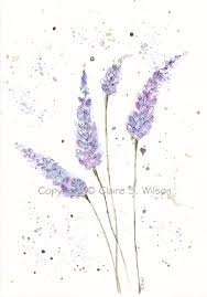 springtime lavender original watercolor tattoo piercing ideas