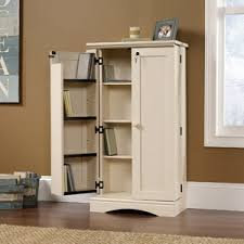 sauder storage cabinet white for living room to organize the wii stuff sauder harbor view