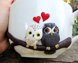 love owls mug handmade mugs custom mug personalized mugs