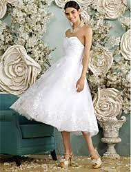 Tea Length Wedding Dress A Line Tea Length Wedding Dress Lightinthebox Com