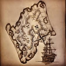map ship compass tattoo sketch drawing by ranz i like
