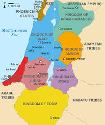 A Map Of The Middle East by Aram Biblical Region Wikipedia