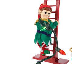 mr christmas animated and musical stepping elf page 1 u2014 qvc com
