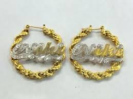 name earrings gold hoop name earrings gold hoop earrings 18k uk watford health