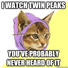 Twin Peaks Meme - i watch twin peaks cat meme cat planet cat planet