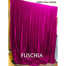 Pink Velvet Curtains Buy Pink Fuschia Velvet Curtains And Drapes Made From Vintage