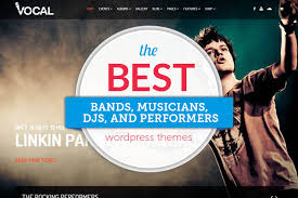 40 wordpress themes for bands 2017