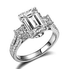 designs engagement rings images Elegant emerald cut diamond engagement ring design petra gems jpg