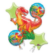 birthday helium balloons t rex dinosaur happy birthday helium balloon bouquet 5