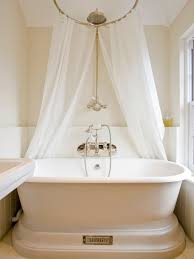Free Standing Drapes Freestanding Tub Shower Curtain Houzz