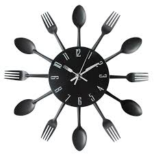 and fork wall clock