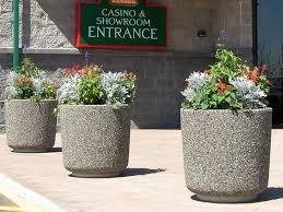 concrete planters cement site furnishings ornamental inc