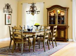Traditional Dining Room Chandeliers Dining Room Round Dining Table By Paula Deen Furniture With Black