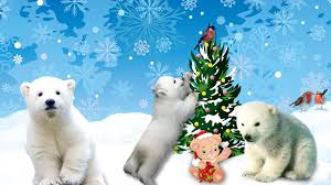 Polar Bear Decorations For Christmas by Winter Snow Cute Polar Christmas Tree Winter Decorate Bears