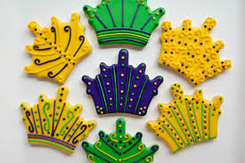 mardi gras crowns crown sugar cookies cakes bakes