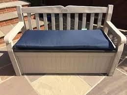 Garden Storage Bench Keter Eden Plastic Garden Storage Bench Comes With Seat Pad