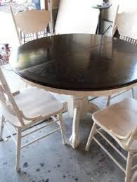 Pedestal Kitchen Table And Chairs - re stained and painted white oak pedestal table and chairs