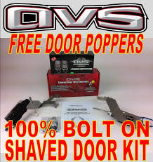 avs 88 98 chevy silverado bolt in shaved door kit w free door