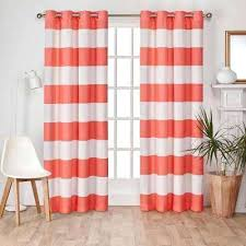 Coral Blackout Curtains Coral Curtains Blackout Canada Drapes Window Treatments The Home