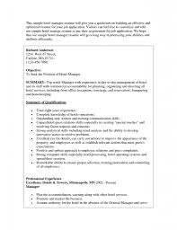 Sample Of Resume For Job Application by Concierge Resume Haadyaooverbayresort Com