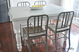 Painted Kitchen Table And Chairs by She U0027s Crafty Grey And White Painted Kitchen Table How To