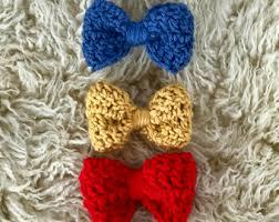 crochet hair bows crochet hair bow etsy