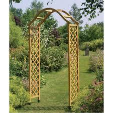 wooden garden archway arch