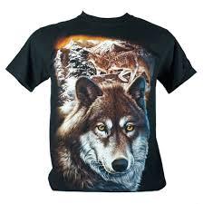 three wolf moon indian medium size m t shirt
