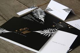 wedding invitations new zealand new zealand silver fern wedding stationery black and gold custom