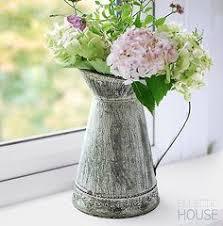 Metal Jug Vase Rustic Jug Churn Zinc Tin Metal Flower Pitcher Vase Vintage