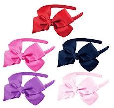 pink hair bow hipgirl grosgrain ribbon wrapped 1 2 headband