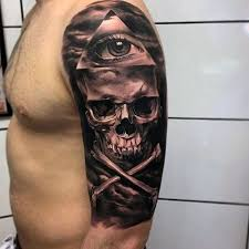 37 best realistic skull and bones tattoo images on pinterest