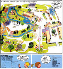 A Map Of Wisconsin by Theme Park Brochures Dells Crossroads Fun Park Theme Park Brochures